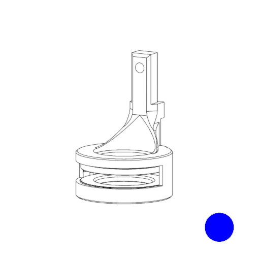 No. 221 - X2 Drive magnet ( Blue )