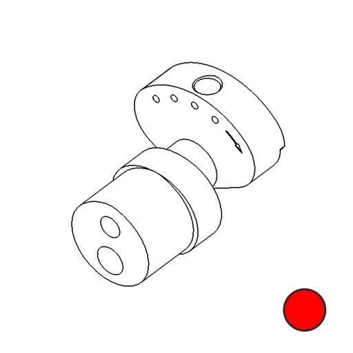 No. 83 - Cam 2.6mm stroke Short smooth (Red)